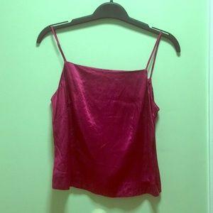 Fuchsia silk camisole